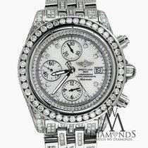 百年靈 (Breitling) Evolution A13356 White Dial 18ct Diamond Watch