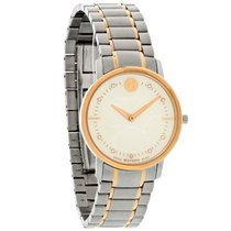 Movado TC Series Ladies Diamond MOP 2Tone Swiss Quartz Watch...