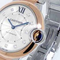 Cartier Ballon Bleu W3bb0007 18k Pink Gold Steel 36 Mm...