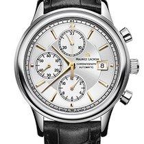 Maurice Lacroix Les Classiques Chronographe Silver Dial, Black...