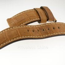 Panerai Brown Croc Leather Strap Used 26mm For 47mm Case Oem...