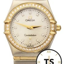 Omega Constellation 18K Gold & SS Diamond Bezel MOP Dial...