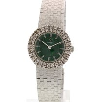 Omega Ladies Omega 18K WG & Diamond / Emerald Green Dial