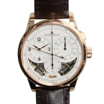 Jaeger-LeCoultre New  Duometre 18k Rose Gold Silver Manual...