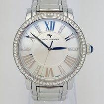 David Yurman T716-L Classic Stainless Steel Diamond Bezel REF:...