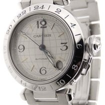 Cartier Pasha C GMT Stainless Steel Automatic 35mm Date Analog...