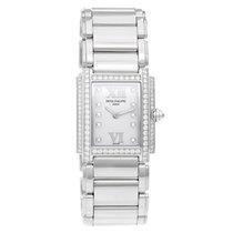 Patek Philippe Twenty-4 Ladies White Gold Diamond Watch 4908/310G
