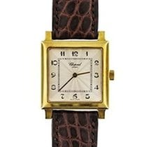 Chopard 163296 Classic Square in Yellow Gold - on Brown...