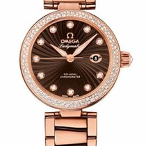Omega 425.65.34.20.63.001 DeVille Ladymatic in Rose Gold with...