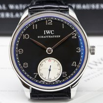 IWC IW545404 Portuguese Hand Wound SS Black Dial (26072)