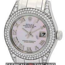 Rolex Datejust Pearlmaster 29mm 18k White Gold Diamond Bezel...
