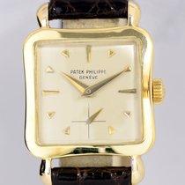 Patek Philippe 18K Gelbgold Square very rar Dresswatch Vintage...