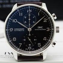 IWC Portuguese Chronograph SS Black Dial