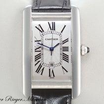 Cartier TANK AMERICAINE WEISSGOLD 750 LEDER GROßES MODELL...