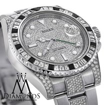 Rolex Diamonds Rolex Gmt-master Ii 116710 With Custom Diamond...