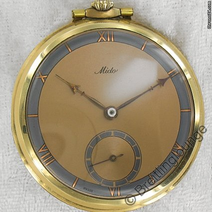 Mido pocket watch Taschenuhr art deco