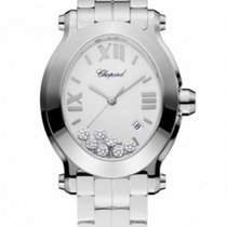 Chopard Happy Sport Oval Watch Stainless Steel Diamond Watch