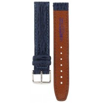 Bulgari Hirsch Waterproof Blue Leather Strap 18mm