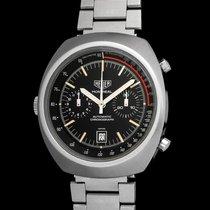 "Heuer Vintage Black dial ""Bellof"" Montreal cal .12"