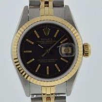 Rolex OYSTER PERPETUAL DATEJUST 69173 BLACK DIAL 18K GOLD...