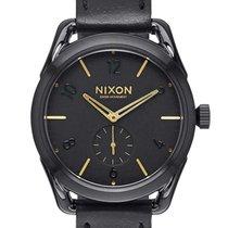 Nixon A459-010 C39 Leather Black Gold 39mm 10ATM