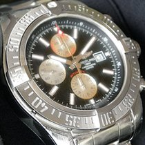 Breitling Ss 48mm Super Avenger Ii Black Silver Dial Bc29...