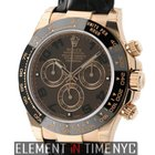 Rolex Daytona 18k Rose Gold Ceramic Brown Arabic Dial 40mm...
