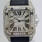 Cartier Santos 100 Large Diamond Case and Bezel REF: W20073X8...