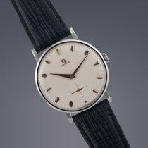 Omega Oversized steel manual watch