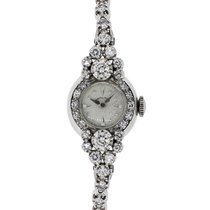 Hamilton Gold 2ctw Diamond Antique Ladies Watch