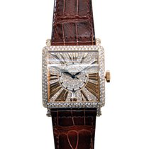 Franck Muller New  Master Square Rose Gold Light Brown...