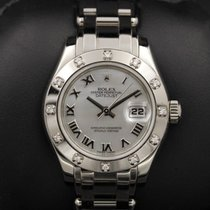 Rolex Datejust - PEARLMASTER - 80319 - White MOP Roman Dial ...