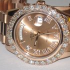 Rolex Day-Date II President 18K Solid Rose Gold Diamonds