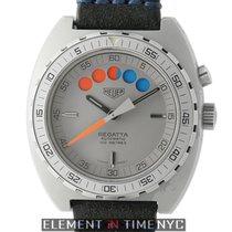 Heuer Vintage Regatta 42mm Grey PVD Case Lemania Caliber 1345...