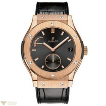 Hublot Classic Fusion 18k Rose Gold Automatic Leather Men'...