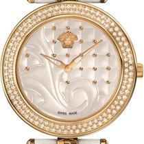 Versace Women's Vanitas Ceramic Watch  Diamonds Rose Gold...