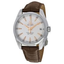 Omega Aqua Terra 150m Master Co-Axial Brown Leather Mens Watch...