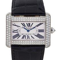 Cartier Tank Divan In Oro Bianco 18kt E Diamanti Ref. Wa301370
