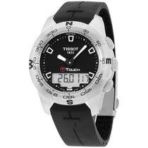 Tissot Men's T0474201705100 T-touch Black Chronograph Dial...