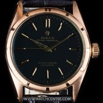 Rolex 18k Rose Gold Semi Bubble Back Vintage Oyster Perpetual...