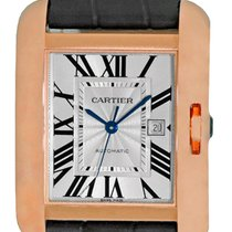 "Cartier ""Tank Anglaise"" Automatic Strapwatch."