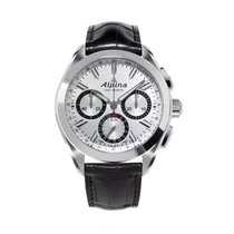 Alpina Manufacture 4 Flyback Chronograph Silvered Sunray Dial...