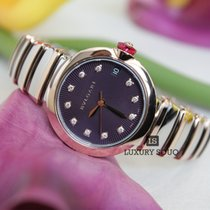 Bulgari BVLGARI LVCEA 33MM 18K Pink Gold Bezel in Steel Case,...