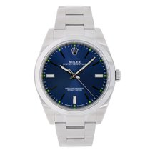 Rolex Oyster Perpetual No-Date 39mm Blue Dial 2016