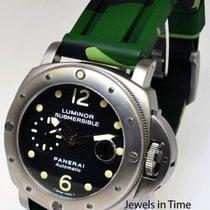 Panerai Submersible Titanium Mens Dive Watch & Case Pam 25...