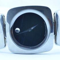 Movado Museum Damen Watch Uhr Rar Stahl Top Quartz 30mm