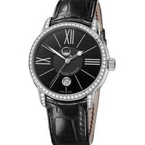 Ulysse Nardin Classico Lunar in Stainless Steel with Diamond...