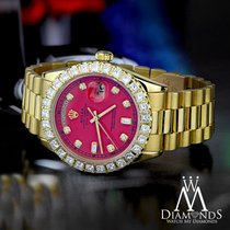 Rolex Red Face Diamond Rolex Presidential 18k Yellow Gold...