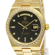 Rolex OysterQuartz Day-Date 18k Gold Original Diamond Dial/Bez...