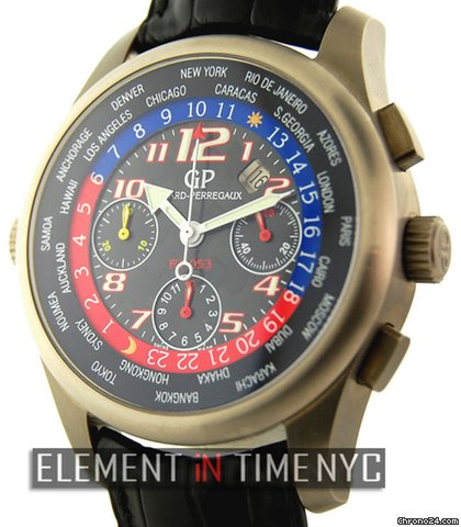 Girard Perregaux World Time Chrono F-1053 Titanium Red/Blue 4980